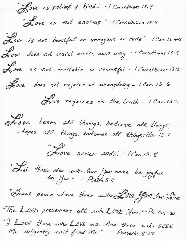 love scriptures edited