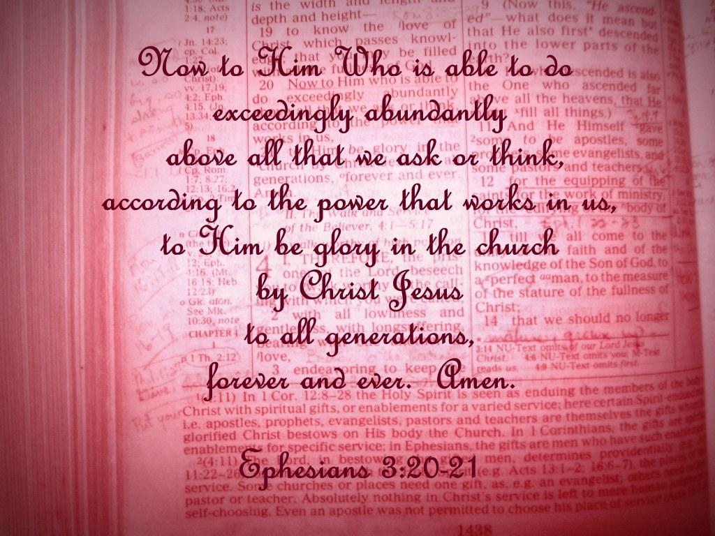 Ephesians 3  20-21